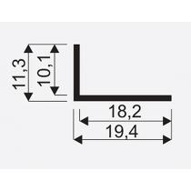 Kątownik 10x18 jasny brąz SEVROLL