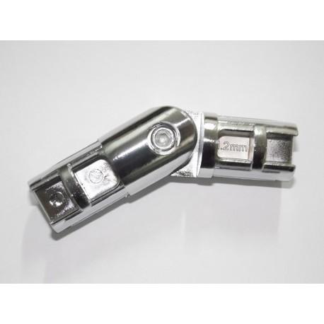 Złącze zawiasowe FI 25mm chrom