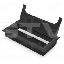 Przepust kablowy MERIDA 80x160mm czarny