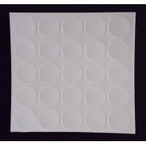 Zaślepka naklejana biała FI 14mm 1listek (25szt)