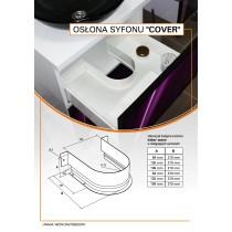 Osłona syfonu COVER 210x84 szara