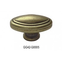 Gałka meblowa GG42 stare złoto
